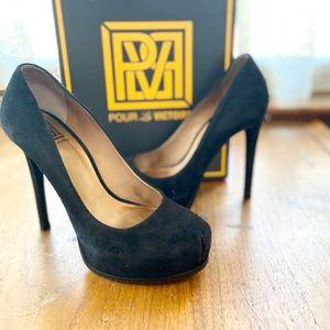 🔅LOWEST PRICE!!🔅| NIB Irina Black Suede Heels